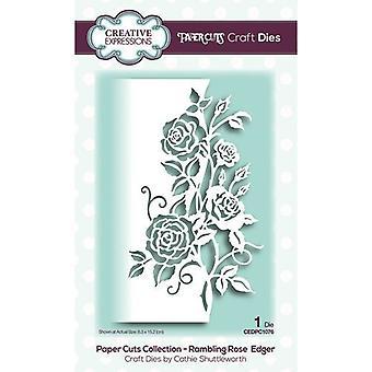 Creative Expressions Paper Cuts -kokoelman leikkaus kuolee - pähkäilevä ruusunreuna