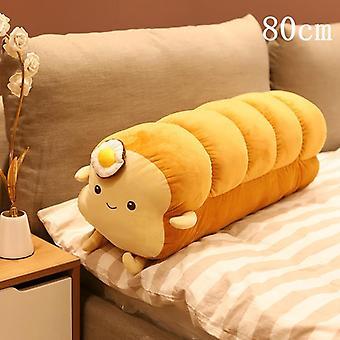 Creative Simutational Plush Poached Egg Bread Toast Shape Pillow