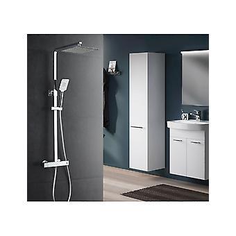 Columna de ducha termostática altura ajustable todo en latón completo