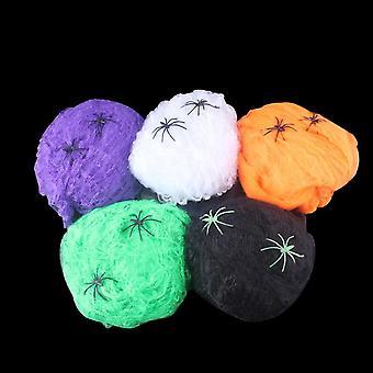 Halloween pelottava juhla kohtaus rekvisiitta venyvä hämähäkinseitti hämähäkin web kauhu koristelu