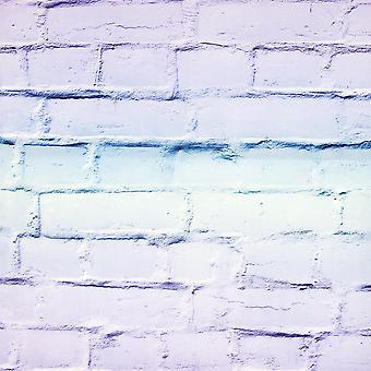Ombre Brick Lilac/Mint Wallpaper