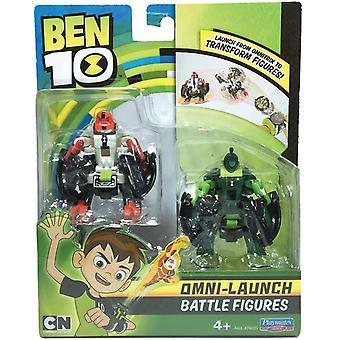 Ben 10 Omni Launcher Battle Figures Refill - Fourarms & Wildvine