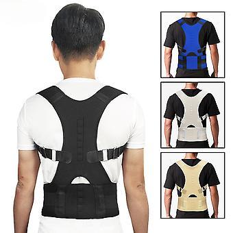 Men Women Adjustable Magnetic Posture Corrector Corset Back Brace Back Belt Lumbar Support Straight Corrector