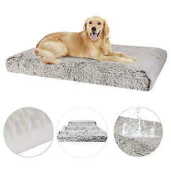 ekstra stor kjæledyr hund seng fluffy myk plysj pute med vaskbar avtagbart deksel