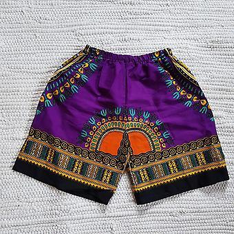 Kid&Apos;s Dashiki Purple rövid nyári afrikai viselet