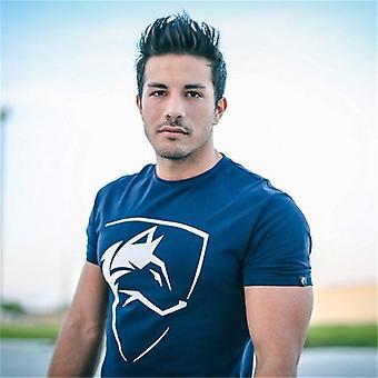 T-shirt De course sports de gym d'été pour hommes et apos, tee-shirts Wolf Print