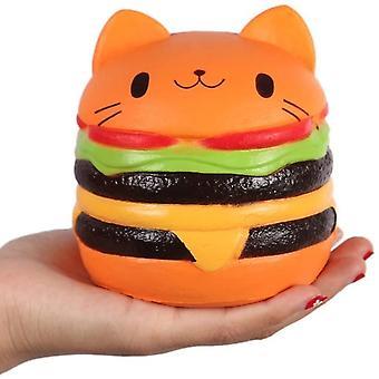 Katt hamburgare långsam stigande klämma mjuk lindrar stressleksak