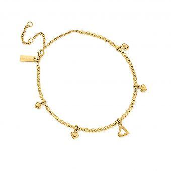 ChloBo Gold Mini Cute Multi Heart Anklet GANMC40143095