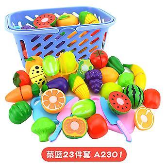 Children and girls simulation kitchen cooking kitchenware fruit toy set