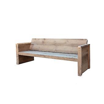 Wood4you - Tuinbank Vlieland - 'Doe het zelf' Bouwpakket steigerhout 180Lx72Hx57D cm