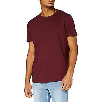 edc by Esprit 080CC2K306 T-Shirt, 604/Bordeaux Red 5, S Men