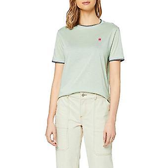 G-STAR RAW Gyre Ringer Straight T-Shirt, Verde (Freez Green C109-B213), S Donna