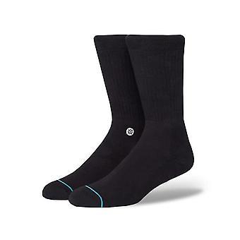 Chaussettes d'équipage d'icône de stance en noir/blanc