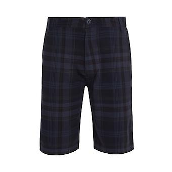Cuburt Check Shorts Navy