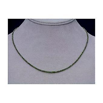 Diamond strand green faceted 19,90ct