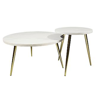 Nordic Light Luxury Marble Tabletop, Creative Stainless Steel Base Coffee Table