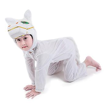 Xl (140cm) λευκό άλογο μακρύ cosplay κοστούμι κοστούμι κοστούμι κοστούμι ρούχα διακοπές ρούχα cai598