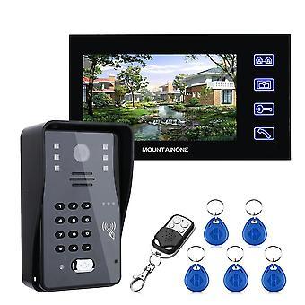Sonerie video de telefon interfon cu parolă Rfid și control acces de la distanță
