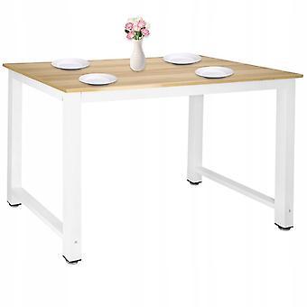 Køkkenbordsbord 110 x 60 x 74 cm – Hvid + Træ
