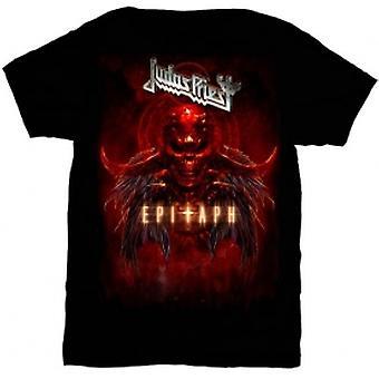 Judas Priest Epitaph Red Horns Mens TS: Medium