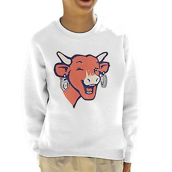 The Laughing Cow Winking Logo Kid's Sweatshirt