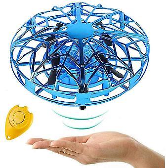 Handbediende drones voor kinderen, Mini Ufo Flying Ball Toy (blauw)
