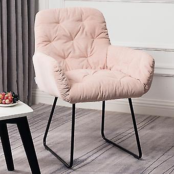 Lässiger pinker Leinen-Sessel