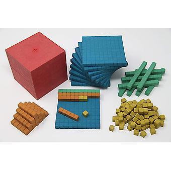aktiv lernen R39578.000 Dienes Grundset 141 Teile farbig, Mehrfarbig