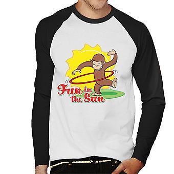 Curioso George Fun in The Sun Uomo Baseball T-Shirt a maniche lunghe