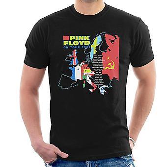 Pink Floyd Kiertueella 1989 Miesten t-paita