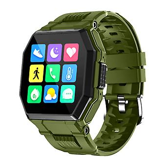 PrettyLittle S9 Smartwatch with Magnetic Charging Cable - Fitness Sport Activity Tracker Silica Gel Strap Watch iOS Android Green