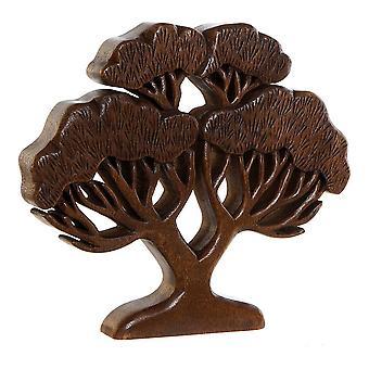 Sierfiguur DKD Home Decor Acacia hout Boom (1 stuks) (35 x 4 x 31 cm)