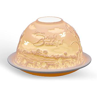 Light Glow Dome Tealight Holder, Bright and Beautiful