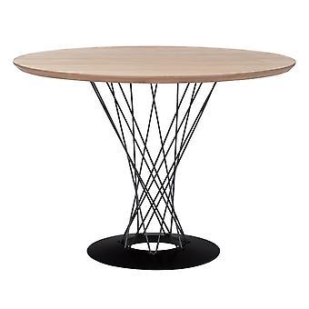 SKLUM Laho tafel MDF - Staal Zwart – natuurlijk hout