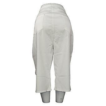DG2 by Diane Gilman Women's Plus Pants Pull-On Pedal Pusher White 741935