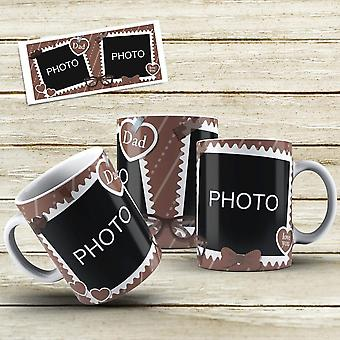 Dad mugs - personalised photo mugs - choose design and add your photos