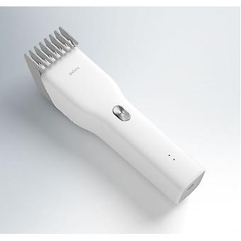 Hair Trimmer For Men USB Rechargeable Electric Clipper Cutter Machine With Adjustable Comb(white)