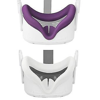Osłona maski na oczy do oculus quest 2 okulary vr silikonowy anty-pot zapobiegający wyciekom lekka osłona twarzy