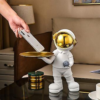 Hywell astronautti patsas kotiin sisustus metalli tarjotin nasta veistos Pohjoismainen olohuone sisustus
