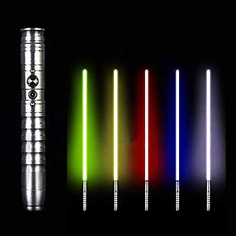 Star Wars Lightsaber, 11 Color Changeable Metal Aluminum Lightsabers, With 2 Modes Sound Force Fx Duel Lightsaber Silver Handle (65 Cm Blade Rgb)