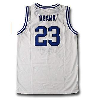 पुरुषों की बास्केटबॉल मूवी जर्सी बराक ओबामा सिले हाई स्कूल जर्सी