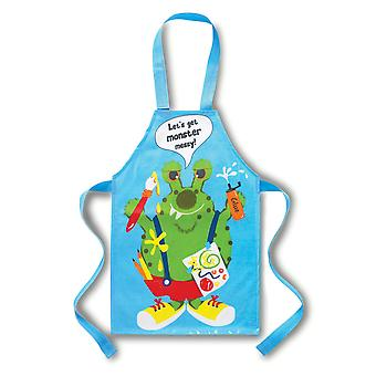 Cooksmart Children's PVC Apron, Let's Get Monster Messy, Blue