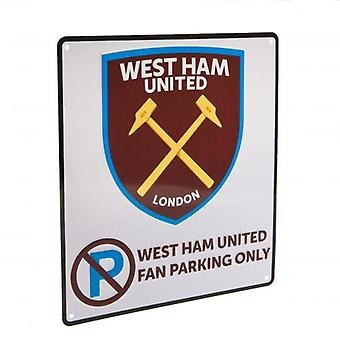 West Ham United skilt-parkering