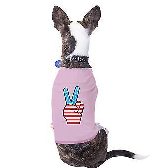 السلام علامة الوردي العلم الأمريكي في الرابع من يوليو الكلب قميص هدية الأفكار