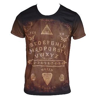 Wild star - ouija board vintage - mens t-shirt tops - brown