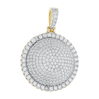 Premium Bling - 925 sterling silver DOME pendant gold