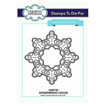 Creative Expressions Gingerbread Cookie Stamp By Sue Wilson*^^