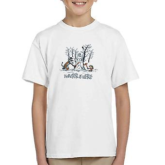 Winter Is Here Calvin And Hobbes Game Of Thrones Kid's T-Shirt