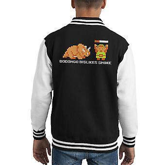 Dodongo Dislikes Smoke Black Zelda Kid's Varsity Jacket