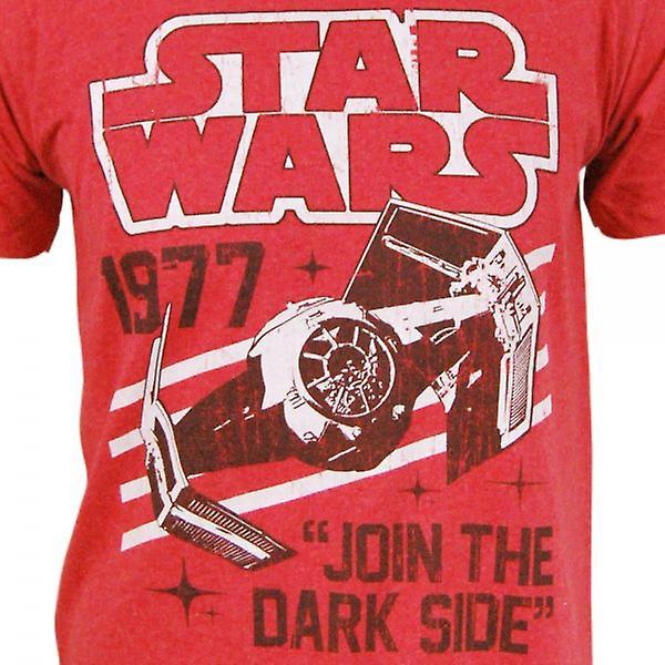 Star Wars Mens Star Wars Darth Tie Fighter 1977 T Shirt rouge